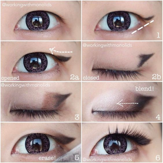 Natural eyeshadow tutorial for brown eyes