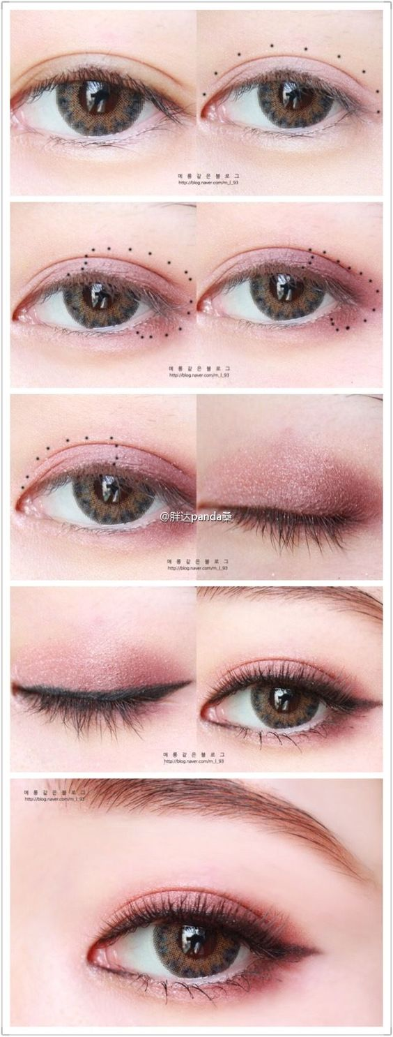 With Valentine's Day coming up it's time to start practicing to find your best romantic makeup look! This Japanese girl used a subtle pinkish brown shade ...